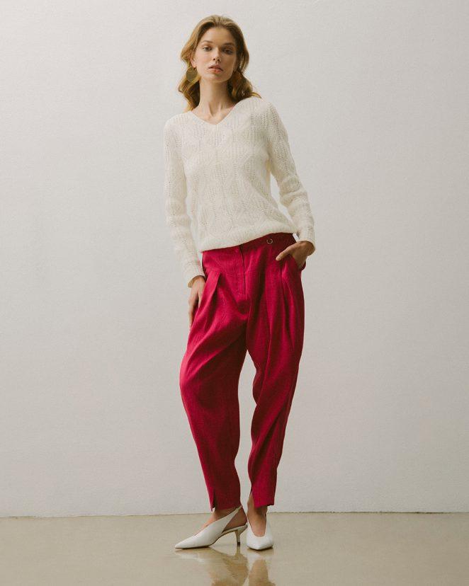 10 MODAPOLKA SS_18 Trousers (magenta)