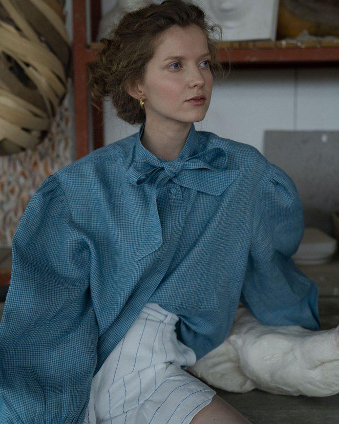 1Modapolka Fafinska blue blouse2