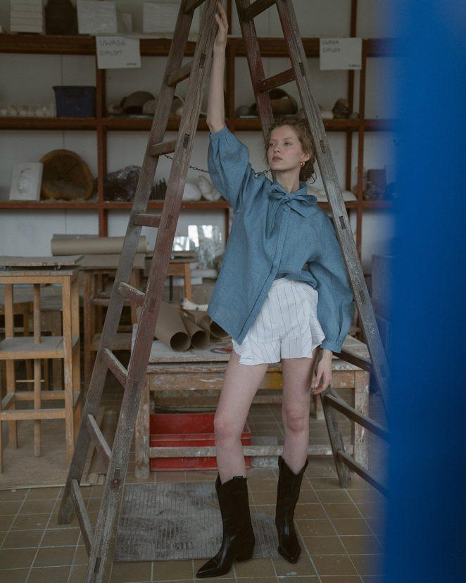 2Modapolka Fafinska blue blouse3